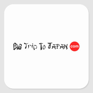 Pegatina Cuadrada Viaje grande a los pegatinas cuadrados de Japón
