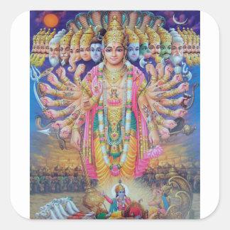 Pegatina Cuadrada Vishnu