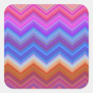 Pegatina Cuadrada zigzag, colorido, divertido