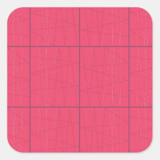 Pegatina Cuadrada Zigzag rosado de los elementos del diseño