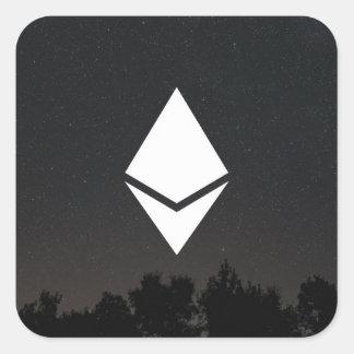 Pegatina cuadrado de Ethereum