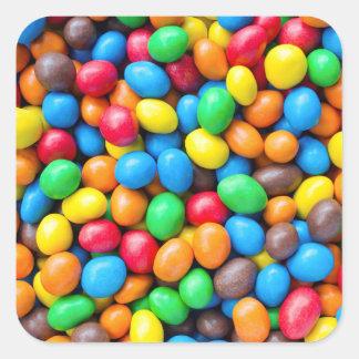 Pegatina cuadrado de los dulces recubiertos de