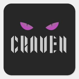 Pegatina cuadrado redondo del logotipo de Craven