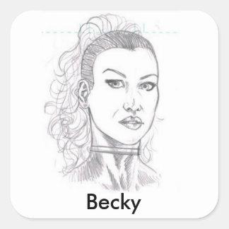 Pegatina de Becky