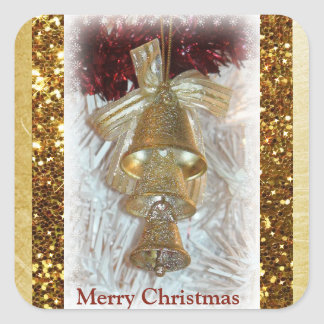Pegatina de Belces del oro de las Felices Navidad