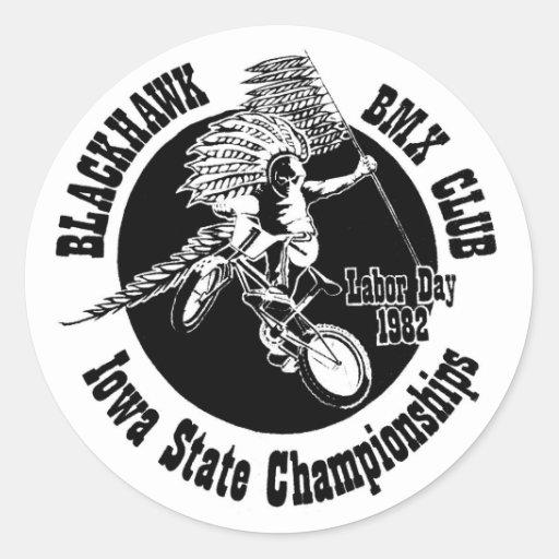 Pegatina de BlackHawk BMX