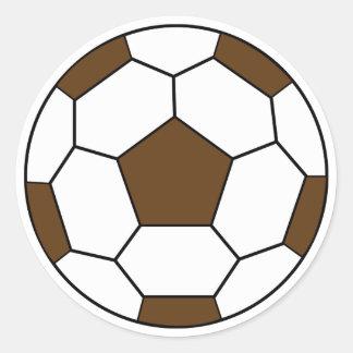 Pegatina de Brown del balón de fútbol