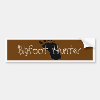 Pegatina de Bumpter del cazador de Bigfoot Pegatina Para Coche