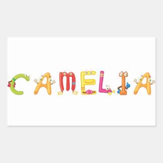 Pegatina de Camelia