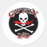 Pegatina de capitán Dad (machete)