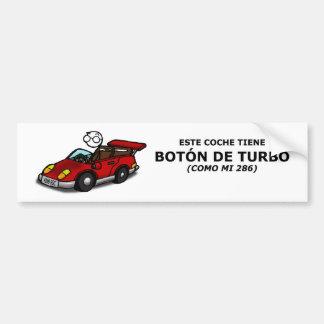 Pegatina de coche - botón de turbo pegatina para coche