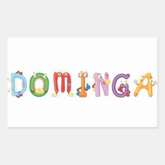 Pegatina de Dominga