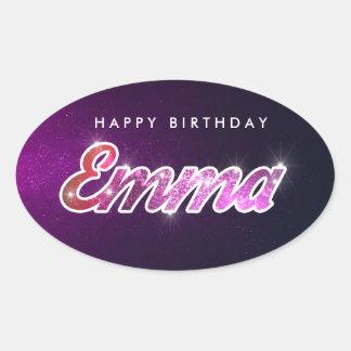 Pegatina de Emma del feliz cumpleaños