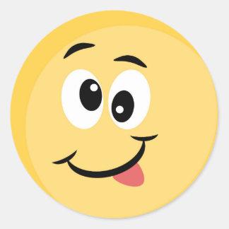 Pegatina de Emoji con la cara feliz