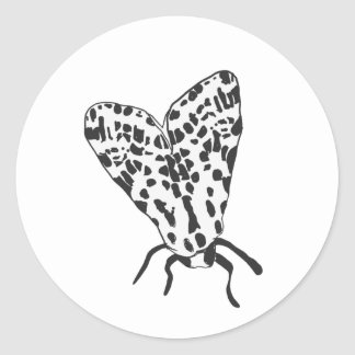 Pegatina de encargo del bosquejo de la polilla