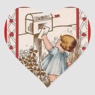 Pegatina de envío de la tarjeta del día de San
