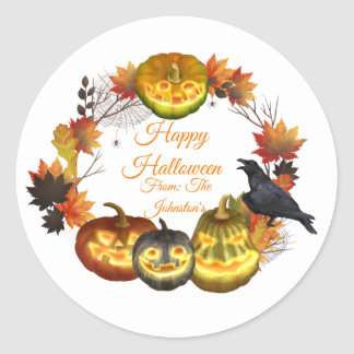 Pegatina de Halloween de la licencia de la caída
