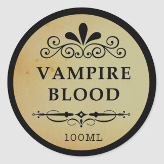 Pegatina de Halloween de la sangre del vampiro del