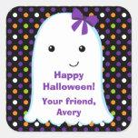 Pegatina de Halloween de los niños del chica el |