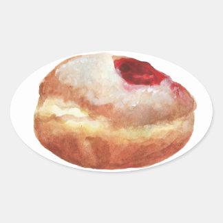 Pegatina de Jánuca del buñuelo de jalea
