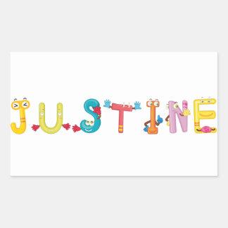Pegatina de Justine