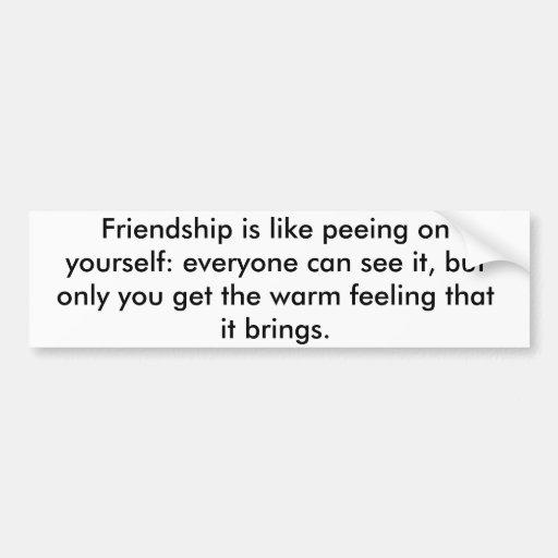 Pegatina de la amistad etiqueta de parachoque