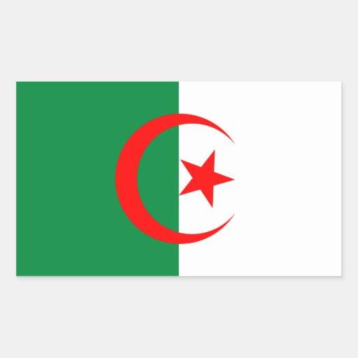 Pegatina de la bandera de Argelia
