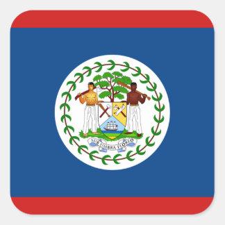 Pegatina de la bandera de Belice