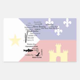 Pegatina de la bandera de Cajun de las ciudades y