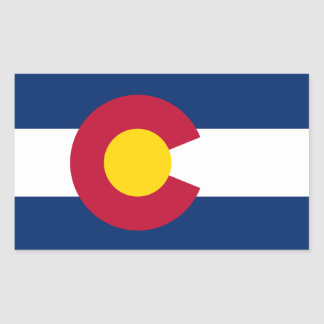 Pegatina de la bandera de Colorado*