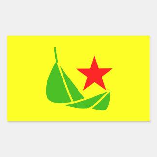 Pegatina de la bandera de Communalist