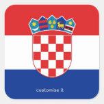 Pegatina de la bandera de Croacia