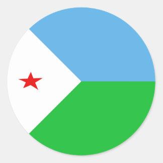 Pegatina de la bandera de Djibouti Fisheye