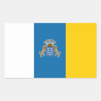 Pegatina de la bandera de las islas de Canary*
