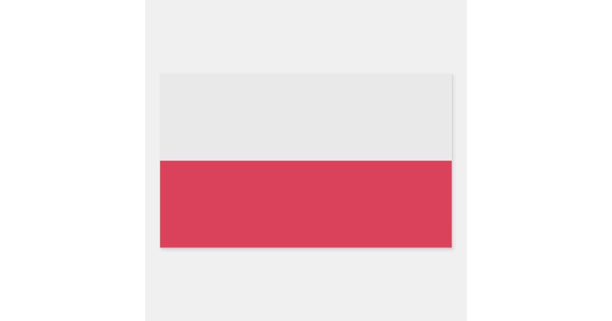 Pegatina De La Bandera De Polonia