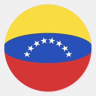Pegatina de la bandera de Venezuela Fisheye