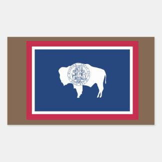 Pegatina de la bandera de Wyoming