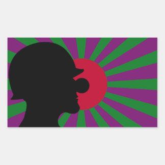 Pegatina de la bandera del sol naciente de