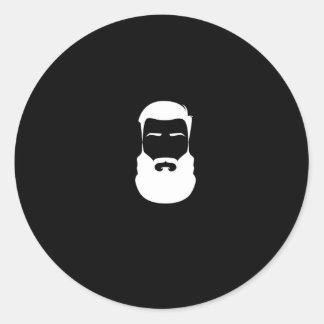 Pegatina de la barba blanca
