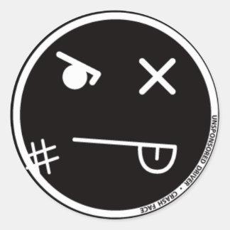 Pegatina de la cara #1 del desplome