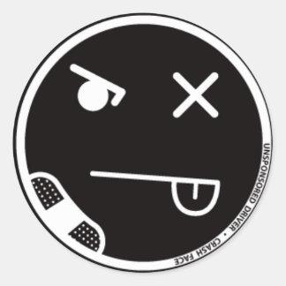 Pegatina de la cara #3 del desplome