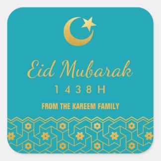 Pegatina de la celebración de Eid con el modelo