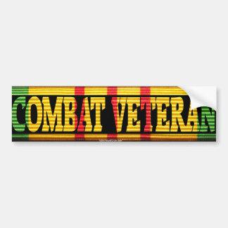 Pegatina de la cinta del veterano VSM del combate