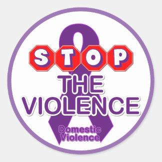 Pegatina de la conciencia de la violencia en el