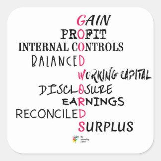 Pegatina de la contabilidad - buenas palabras que