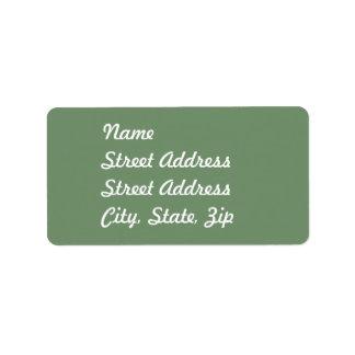 Pegatina de la dirección de la verde salvia etiquetas de dirección