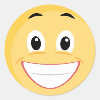 Pegatina de la escuela con la cara sonriente Emoji