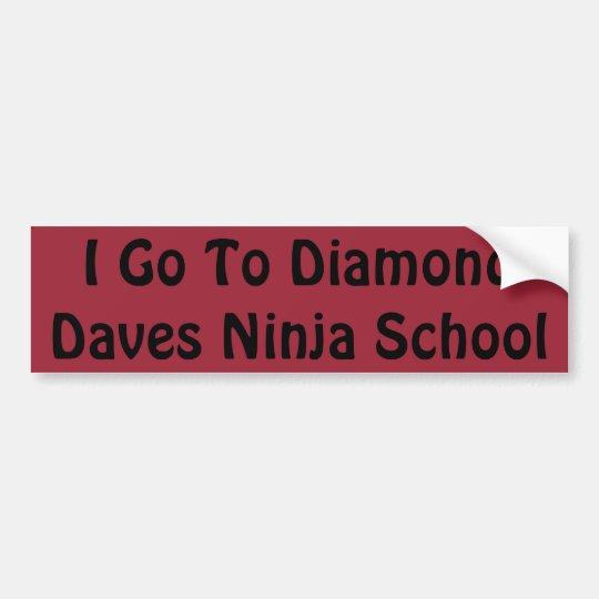 Pegatina de la escuela de Daves Ninja del diamante Pegatina Para Coche