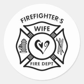Pegatina de la esposa del bombero