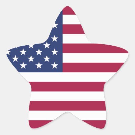 Pegatina de la estrella de la bandera americana